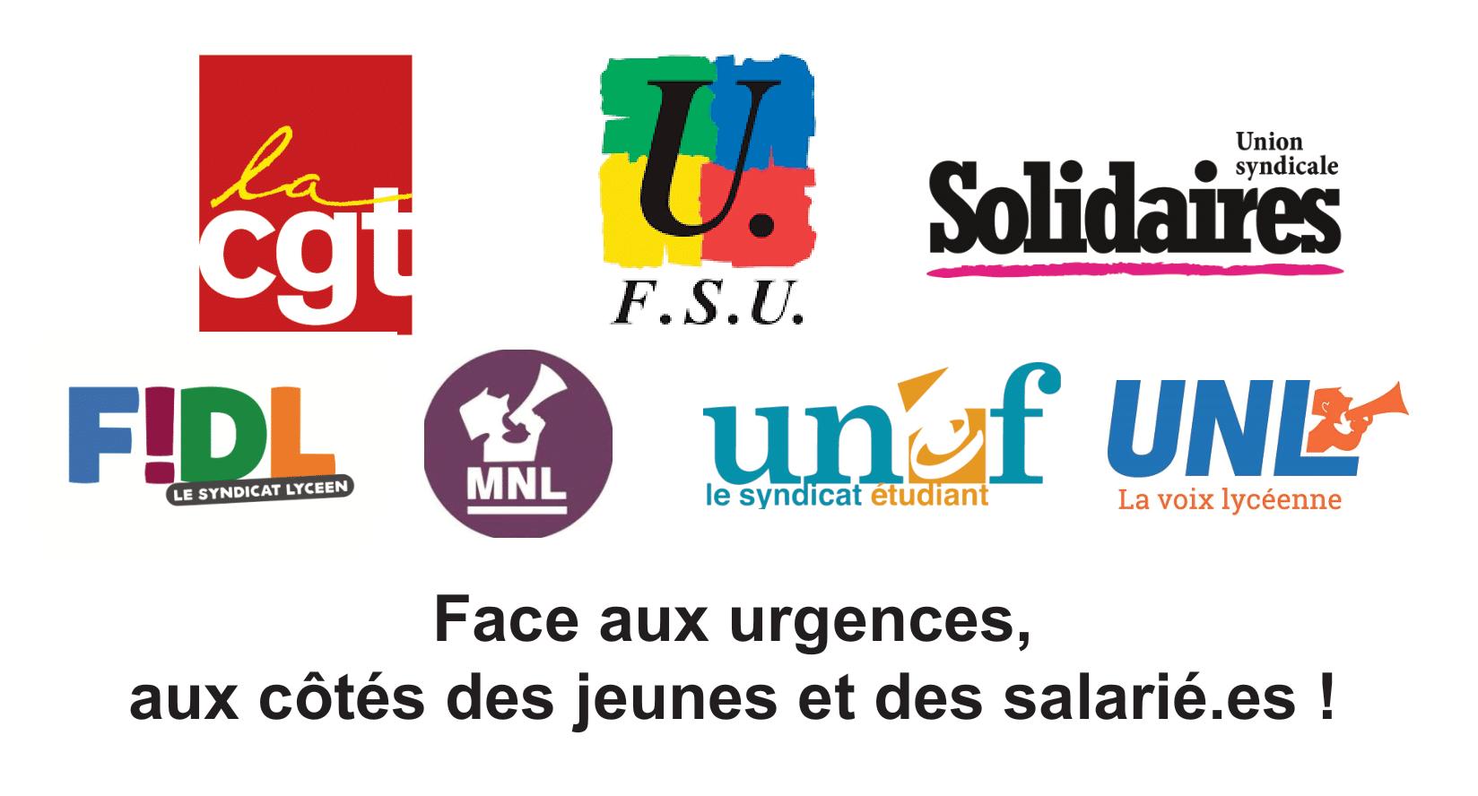 Face aux urgences, aux côtés des jeunes et des salarié.es !